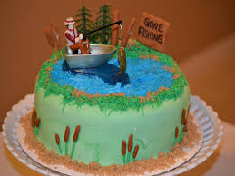 50th fishing birthday cakes for men clipartsgram com