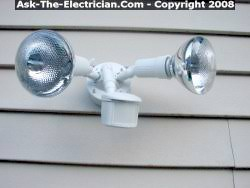how to install flood lights how to install a security motion detector light fixture