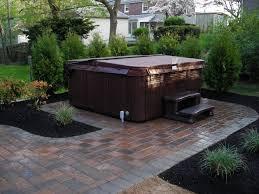 Small Garden Paving Ideas by Pavers Backyard Photo With Amusing Diy Backyard Paver Patio