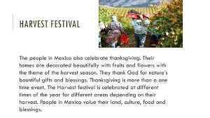 mexico the harvest festival ppt