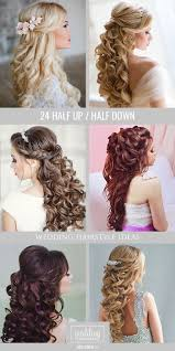 39 half up half down wedding hairstyles ideas curly wedding