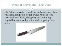 types of kitchen knives and their uses knives foods ii ppt
