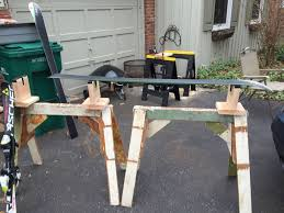 Snowboard Bench Legs Diy Ski Vise 5 Steps With Pictures