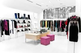 clothes shop interior of the shop clothing sales point women stock photo