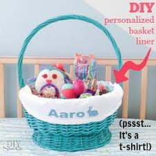 personalized basket easy diy personalized easter basket linerdiy show diy