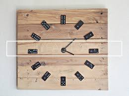 diy pallet wall clock from dominoes youtube