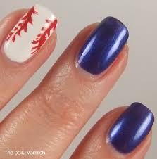 icing 7th inning stretch baseball nail art u2013 the daily varnish