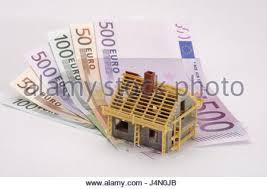 Finanzierung Haus Icon Baukosten Banknoten Objektfotografie Stillleben Bau Bauen