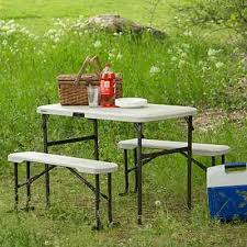 Lifetime Folding Picnic Table Instructions by Lifetime Portable Folding Picnic Camp Table Chair Bench Set