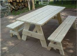 picnic table with separate benches 8 foot picnic table with detached benches bench 5 foot picnic