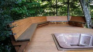 Wood Bench Plans Deck by Best Bench Railing Design Deck Railing Mountain Laurel