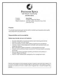 Line Cook Resume Template Chef Resume Sample Experience Resumes