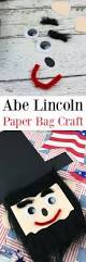 president u0027s day craft for kids abe lincoln paper bag craft