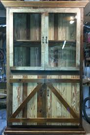 barn wood china cabinet
