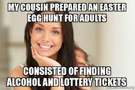 my cousin prepared an easter egg hunt for adults consisted of