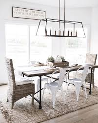 Lighting For Dining Room Table Best 25 Modern Farmhouse Table Ideas On Pinterest Dining Room