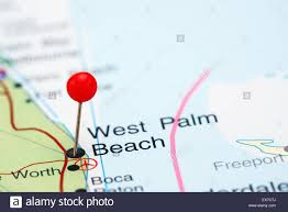Map Of West Palm Beach West Palm Beach Pinned On A Map Of Usa Stock Photo Royalty Free