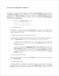 sample of investment agreement contract sublet lease agreement one