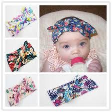 headband baby murah floral knot headband kids turban knot rabbit bow headband headwear