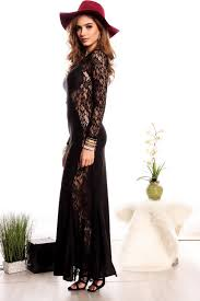 the best online store black long sleeve lace mermaid style long