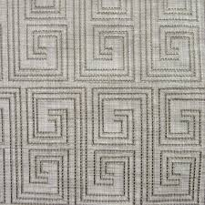 Geometric Drapery Fabric Mystify Moss Green Embroidered Geometric Drapery Fabric By
