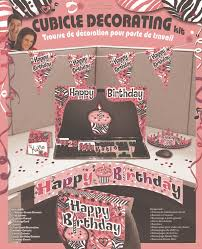 Office Desk Cubicle Decoration Domagron Happy Birthday Cubicle Decorating Kit Pink