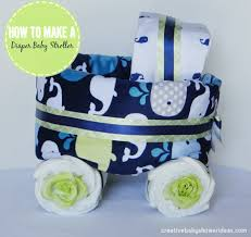 whale baby shower ideas stroller tutorial