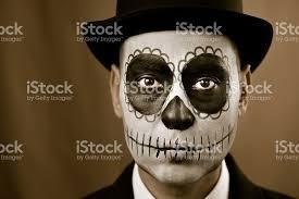 imagenes de calaveras hombres hombre con calaveras para maquillarse fotografía de stock y más