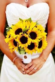 sunflower wedding bouquet real weddings zac sunflower bouquets sunflowers and