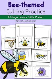 bee cutting practice worksheets the bee tree cutting practice