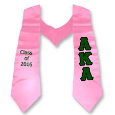 aka graduation stoles alpha kappa alpha accessories something