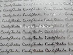 nickel electroforming silver electroforming metal nickel foil sticker thin metal logo