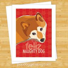 dog christmas cards shiba inu feliz naughty dog merry