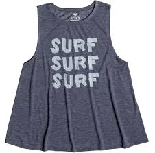 roxy surf women beachwear surfing top tees tank shirts summer
