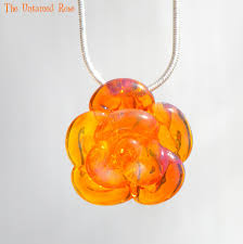 rose glass necklace images Yellow rose necklace glass untamedrose jpg
