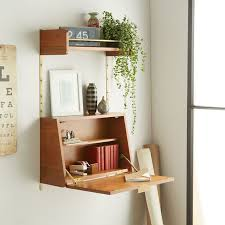 small table with shelves 16 wall desk ideas that are great for small spaces contemporist