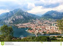 Lake Como Italy Map Lecco Lake Como Italy Stock Photo Image 79755800