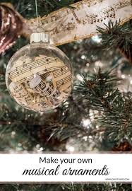 diy musical ornaments sheet empty and ornament