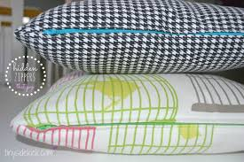 Round Patio Table Cover With Zipper by Diy Zippered Pillow Covers Install A Zipper Washable Pillow Covers