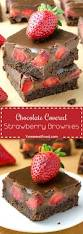 Easy Chocolate Covered Strawberries I Chocolate Covered Strawberry Brownies