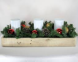 wood centerpiece etsy