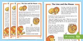 lion mouse story sequencing cards story cards