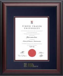 degree frames simon fraser bookstore graduation frames