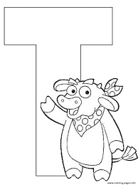letter t dora the explorer alphabet e243 coloring pages printable
