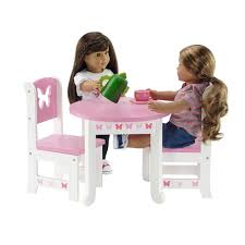 american doll dining table 18 inch doll furniture butterfly collection table and 4 chair