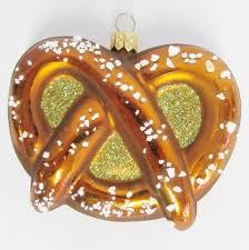 oktoberfest german salted pretzel blown glass ornament