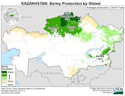 Usda Map Kazakhstan Crop Production Maps