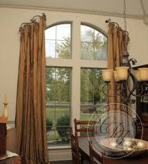 custom drapery designs llc drapery silk stripe drapery arched window treatments
