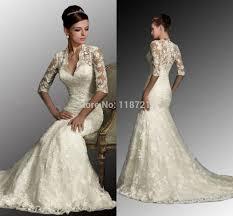 ivory wedding dress white ivory vintage wedding dresses lace mermaid sheer half
