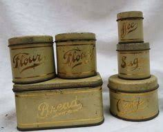 tin kitchen canisters vintage tin kitchen canister set pressed steel c 1950